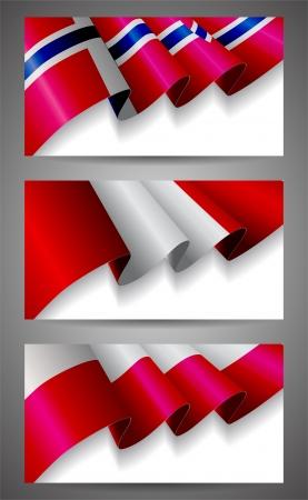 bandera de peru: Noruega, Perú, Polonia set bandera banderas