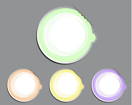 Pastel Color set label round paper Vector