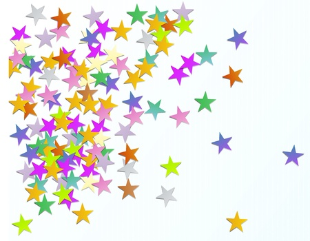 Background with shaped confetti stars paper Stock Vector - 16185825