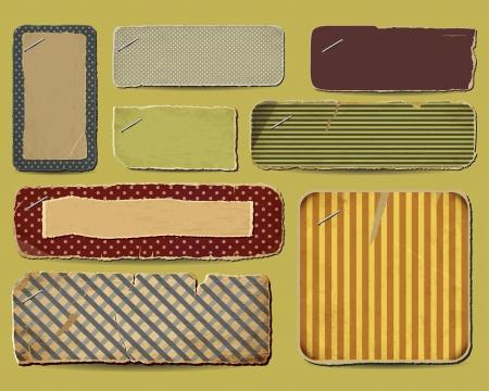 Recogida de papel retro para sus diseños