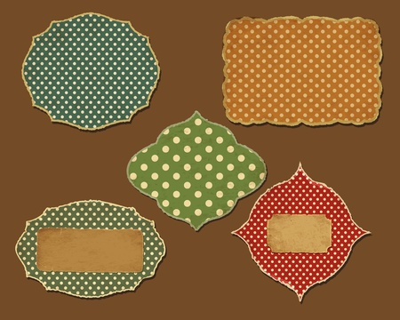 Collection of retro paper for your layouts Vector