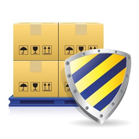 guard box: cartons box and guard icon