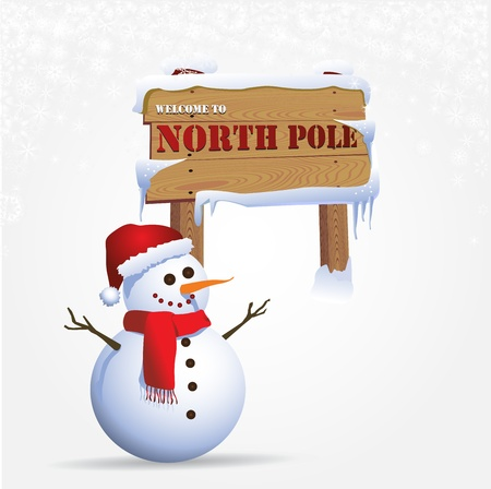 north pole: Snowman at the north pole