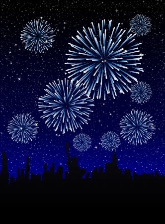 fuegos artificiales: New Year s Eve en Nueva York