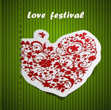 valentine day heart design card Stock Vector - 16831278