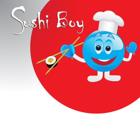 cute sushi boy  Vector