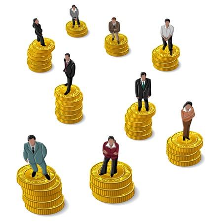 us coin: Ejecutivo, Ejecutiva de pie en moneda d�lar de EE.UU.