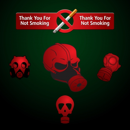 no Smoking mark and gas masks Stock Vector - 16877685