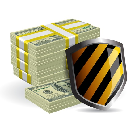 security shield protecting money business concept Stock Vector - 16877703
