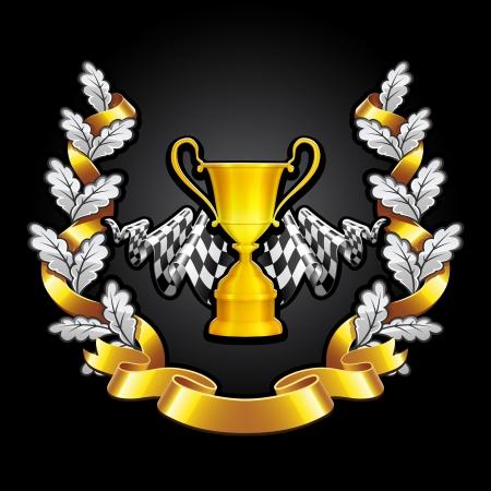 Emblem Racing on black background