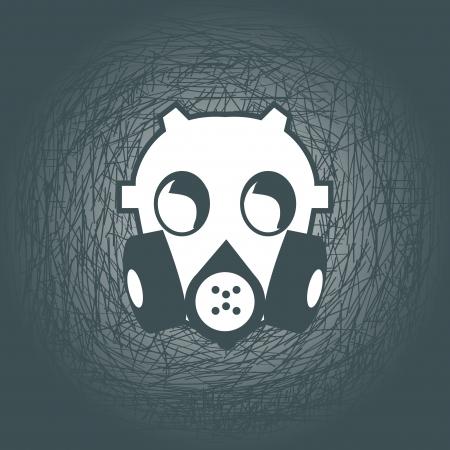 army gas mask: m�scaras de gas de humo l�nea de dibujo