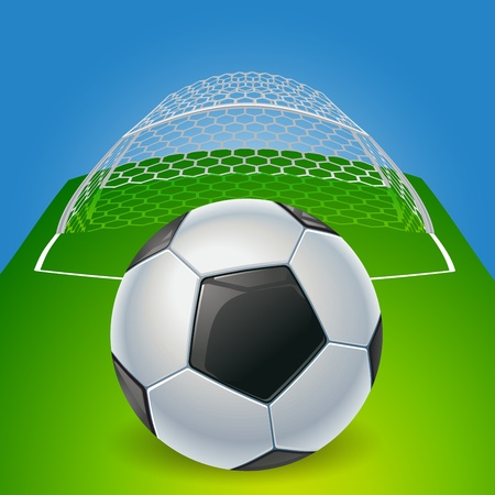 shootout: Soccer ball on the penalty point