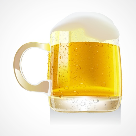 Mug of beer isolated on a white background Stock Vector - 17165337