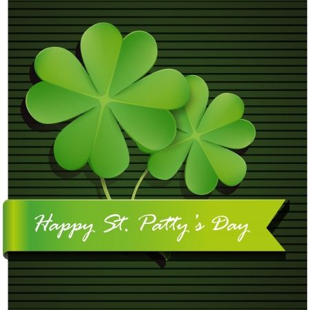 lucky day: Shamrock, clover design, perfect for St  Patrick s Day