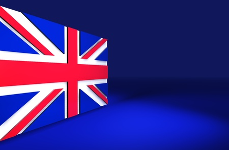 Rendering 3d of the english flag for presentations, language courses and slides. photo