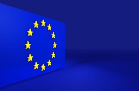 European Union 3d background for slides and presentations. photo