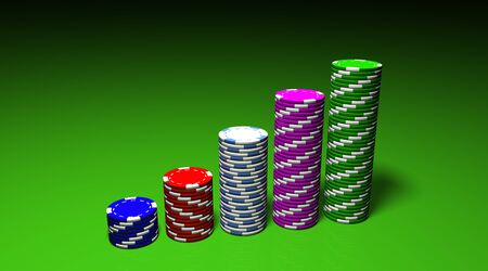 3D rendering of an attractive and colored chips graph Stock Photo - 9800263