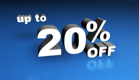 Up to twenty per cent off sign. Stock Photo - 9800257