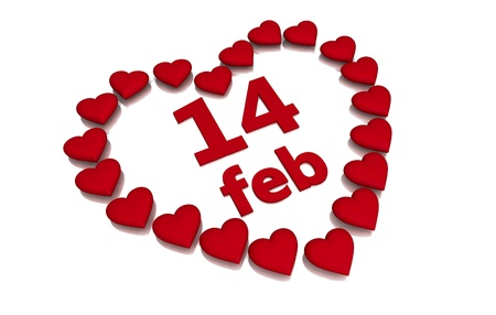 hearts day: Heart shaped frame for valentines day on white background.