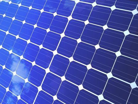 Solar panels for alternative and ecological energy background  photo