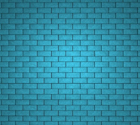 Urban background concept with a brick wall texture painted in blue and cyan with blank space for your copy and advertising text and message  Stok Fotoğraf