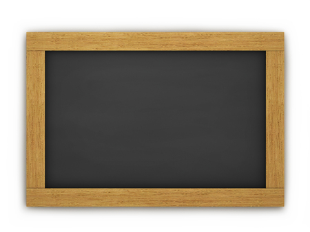 Education, training and school blank wooden blackboard or chalkboard on white background  photo