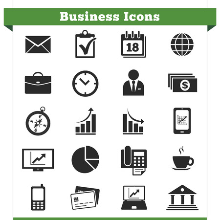 Vector set of business related icons and design elements  Vector