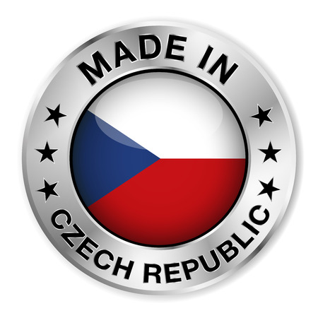 Made in Czech Republic silver badge and icon Imagens - 26592181