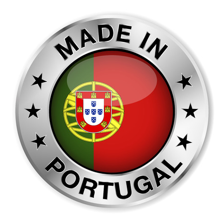 made in portugal: Made in Portugal silver badge and icon
