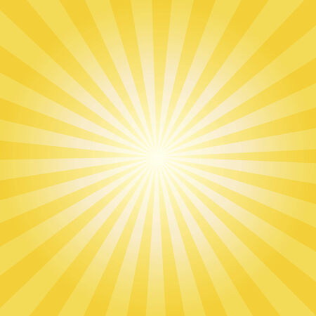 Abstract vector sunburst background with yellow and orange lines for sun effect and summer mood  EPS 10 vector illustration  Vector