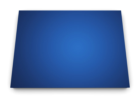 Shape 3d of Colorado state map colored in blue and isolated on white