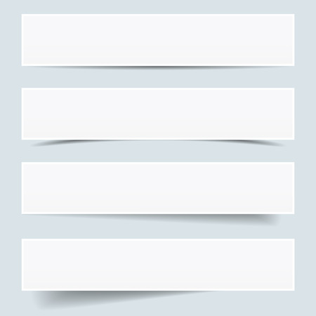 backdrop: Collection of blank paper frames with different shadow effect and empty copy space, backdrop and background for your advertising, photograph and picture vector illustration. Illustration