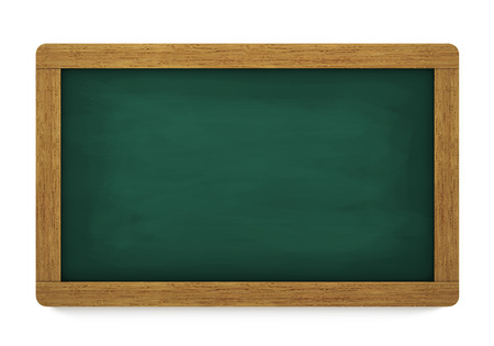 old writing: Education, training and school blank wooden blackboard or chalkboard with empty space for your copy on white background.