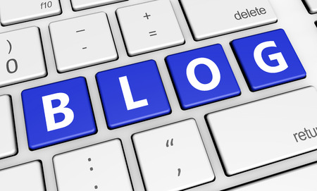 BLOG: Blogging web and Internet concept with blog sign on computer keyboard.