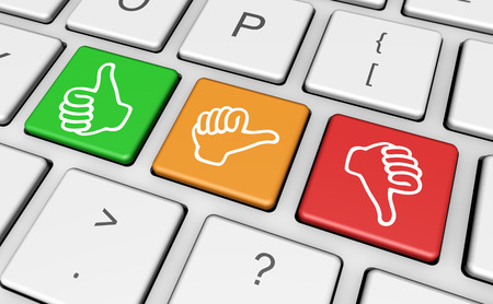 Business quality service customer feedback, rating and survey keys