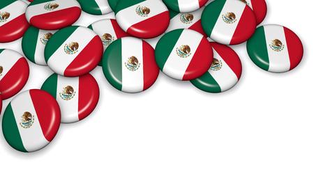 bandera mexicana: bandera de México imagen Divisas de fondo para el mexicano eventos del día, día de fiesta, memorial y la celebración con el copyspace en. Foto de archivo