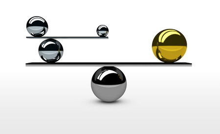 balanced: Balancing the perfect system, lifestyle and business balance concept 3D illustration.