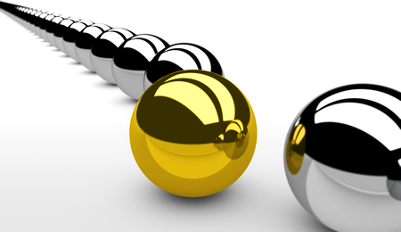 differentiation: Innovation and new business vision concept 3d illustration. Stock Photo