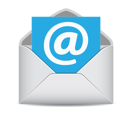 Email icon website contact us symbol EPS10 vector illustration on white background.