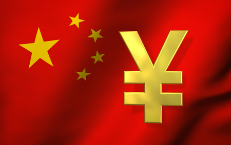 China Currency Code Chinese Exchange Market And Financial Concept