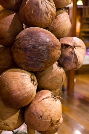 The dried coconut is organized into layers  The architectural decoration in the home Stock Photo - 14236800