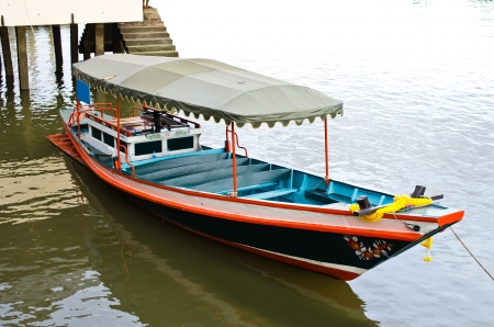 Traditional Boat tours on the Aumpawa market ,Thailand  photo