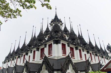 Loha Prasat Metal Palace in Bangkok Thailand named Wat Ratchanada Stock Photo - 14236805