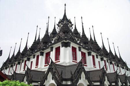 Loha Prasat Metal Palace in Bangkok Thailand named Wat Ratchanada photo