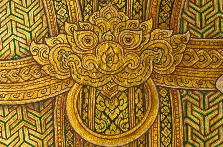 Hanuman,This mural in watprakeaw bangkok,Thailand,Public Domain  photo