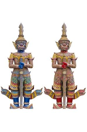 거 대 한 지키고 동상 - 그랜드 팰리스 방콕 태국