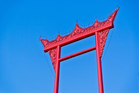 Big Red Giant Swing in Bangkok, Thailand  Created for use in religious ceremonies