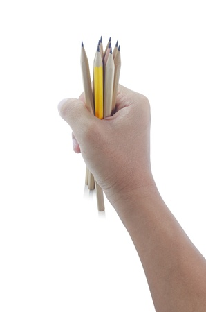Man holding pencil Stock Photo - 15327719