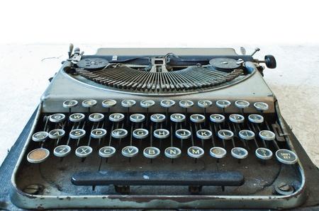 Old Antique typewriter keyboard isolated on white Stock Photo - 16393475