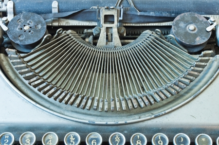 Old Antique typewriter keyboard isolated on white Stock Photo - 16393504
